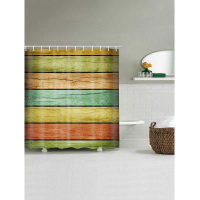 Colorful Wood Plank Print Waterproof Bath CurtainShower Curtain<br>Colorful Wood Plank Print Waterproof Bath Curtain<br><br>Materials: Polyester<br>Number of Hook Holes: W59 inch*L71 inch: 10; W71 inch*L71 inch: 12; W71 inch*L79 inch: 12<br>Package Contents: 1 x Shower Curtain 1 x Hooks (Set)<br>Pattern: Wood Grain<br>Products Type: Shower Curtains<br>Style: Trendy