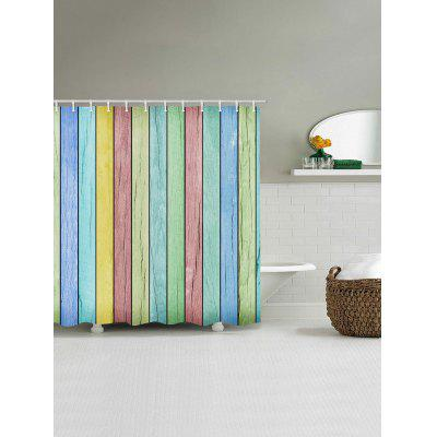 Colorful Wood Grain Print Waterproof Bath CurtainShower Curtain<br>Colorful Wood Grain Print Waterproof Bath Curtain<br><br>Materials: Polyester<br>Number of Hook Holes: W59 inch*L71 inch: 10; W71 inch*L71 inch: 12; W71 inch*L79 inch: 12<br>Package Contents: 1 x Shower Curtain 1 x Hooks (Set)<br>Pattern: Wood Grain<br>Products Type: Shower Curtains<br>Style: Vintage