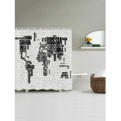 Letters World Map Print Shower CurtainShower Curtain<br>Letters World Map Print Shower Curtain<br><br>Materials: Polyester<br>Number of Hook Holes: W59 inch*L71 inch: 10; W71 inch*L71 inch: 12; W71 inch*L79 inch: 12<br>Package Contents: 1 x Shower Curtain 1 x Hooks (Set)<br>Pattern: Letter<br>Products Type: Shower Curtains<br>Style: Novelty