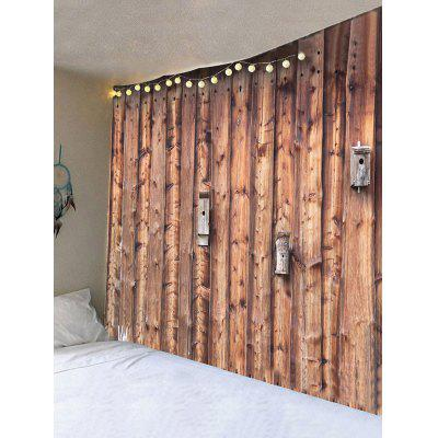 Retro Wood Grain Door Print Wall Hanging TapestryBlankets &amp; Throws<br>Retro Wood Grain Door Print Wall Hanging Tapestry<br><br>Feature: Removable, Waterproof<br>Material: Velvet<br>Package Contents: 1 x Tapestry<br>Shape/Pattern: Wall<br>Style: Vintage<br>Weight: 0.3600kg