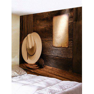 Cowboy Hat Paper Wall Print Hanging Tapestry