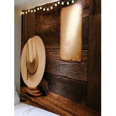 Cowboy Hat Paper Wall Print Hanging TapestryBlankets &amp; Throws<br>Cowboy Hat Paper Wall Print Hanging Tapestry<br><br>Material: Velvet<br>Package Contents: 1 x Tapestry<br>Shape/Pattern: Print,Wall<br>Style: Vintage<br>Weight: 0.3400kg