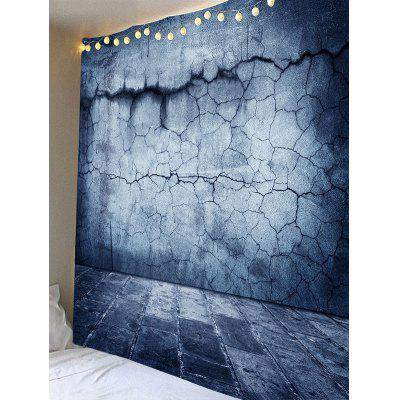 Cracked Stone Wall Print TapestryBlankets &amp; Throws<br>Cracked Stone Wall Print Tapestry<br><br>Material: Velvet<br>Package Contents: 1 x Tapestry<br>Shape/Pattern: Wall<br>Style: Vintage<br>Weight: 0.3700kg