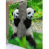 Two Playing Pandas Print Wall Hanging Tapestry - VERDE