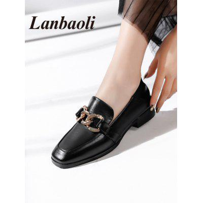 Lanbaoli PU Leather Low Heel LoafersWomens Flats<br>Lanbaoli PU Leather Low Heel Loafers<br><br>Closure Type: Slip-On<br>Flat Type: Slip-On<br>Gender: For Women<br>Heel Height Range: Low(0.75-1.5)<br>Insole Material: PU<br>Lining Material: PU<br>Occasion: Casual<br>Package Contents: 1 x Loafers (pair)<br>Pattern Type: Others<br>Season: Spring/Fall, Summer<br>Shoe Width: Medium(B/M)<br>Toe Shape: Square Toe<br>Toe Style: Closed Toe<br>Upper Material: PU<br>Weight: 1.0500kg