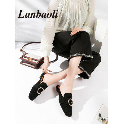 Lanbaoli Round Buckle Flat MulesWomens Flats<br>Lanbaoli Round Buckle Flat Mules<br><br>Closure Type: Slip-On<br>Flat Type: Slip-On<br>Gender: For Women<br>Heel Height Range: Flat(0-0.5)<br>Insole Material: PU<br>Lining Material: PU<br>Occasion: Casual<br>Package Contents: 1 x Mules (pair)<br>Pattern Type: Others<br>Season: Spring/Fall, Summer<br>Shoe Width: Medium(B/M)<br>Toe Shape: Square Toe<br>Toe Style: Closed Toe<br>Upper Material: Microfiber<br>Weight: 1.1020kg