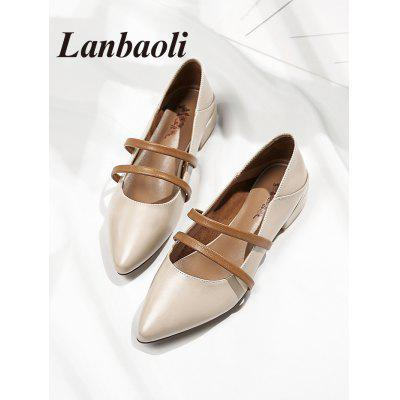Lanbaoli Double Straps Low Heel LoafersWomens Pumps<br>Lanbaoli Double Straps Low Heel Loafers<br><br>Heel Height Range: Low(0.75-1.5)<br>Heel Type: Chunky Heel<br>Occasion: Party<br>Package Contents: 1 x Loafers (pair)<br>Pumps Type: Mary Janes<br>Season: Spring/Fall<br>Shoe Width: Medium(B/M)<br>Toe Shape: Pointed Toe<br>Toe Style: Closed Toe<br>Upper Material: PU<br>Weight: 0.9280kg