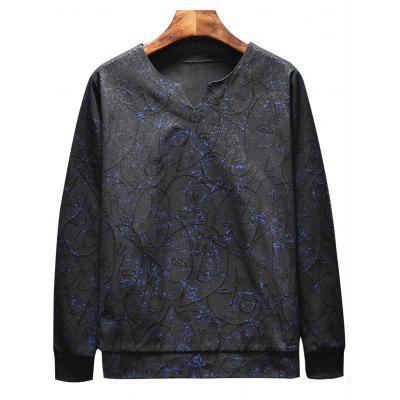 Printed Sweatshirt Sports TwinsetSport Clothing<br>Printed Sweatshirt Sports Twinset<br><br>Material: Cotton, Polyester<br>Package Contents: 1 x Sweatshirt  1 x Pants<br>Pattern Type: Print<br>Type: Sets<br>Weight: 0.6200kg