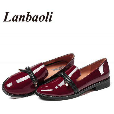 Lanbaoli Straps Knot Detail Low Wedge Heel Slip On LoafersWomens Pumps<br>Lanbaoli Straps Knot Detail Low Wedge Heel Slip On Loafers<br><br>Heel Type: Low Heel<br>Occasion: Casual<br>Package Contents: 1 x Loafers (pair)<br>Pumps Type: Basic<br>Season: Spring/Fall, Summer<br>Toe Shape: Pointed Toe<br>Toe Style: Closed Toe<br>Upper Material: PU<br>Weight: 1.1600kg