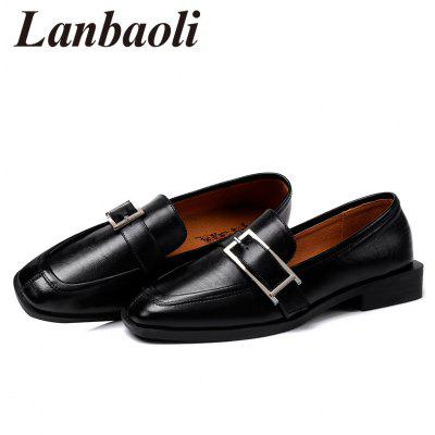 Lanbaoli Low Block Heel LoafersWomens Flats<br>Lanbaoli Low Block Heel Loafers<br><br>Closure Type: Slip-On<br>Embellishment: Buckle<br>Flat Type: Slip-On<br>Gender: For Women<br>Heel Height Range: Low(0.75-1.5)<br>Occasion: Casual<br>Package Contents: 1 x Loafers (pair)<br>Pattern Type: Solid<br>Season: Spring/Fall<br>Shoe Width: Medium(B/M)<br>Toe Shape: Round Toe<br>Toe Style: Closed Toe<br>Upper Material: PU<br>Weight: 1.0300kg
