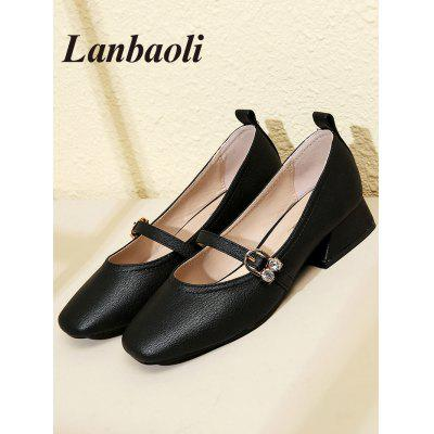 Lanbaoli PU Leather Strap Buckle Detail Low HeelsWomens Pumps<br>Lanbaoli PU Leather Strap Buckle Detail Low Heels<br><br>Embellishment: Buckle<br>Heel Height Range: Low(0.75-1.5)<br>Heel Type: Low Heel<br>Insole Material: PU<br>Occasion: Casual<br>Outsole Material: Rubber<br>Package Contents: 1 x Low Heels (pair)<br>Pumps Type: Mary Janes<br>Season: Spring/Fall, Summer<br>Shoe Width: Medium(B/M)<br>Toe Shape: Pointed Toe<br>Toe Style: Closed Toe<br>Upper Material: PU<br>Weight: 0.9950kg