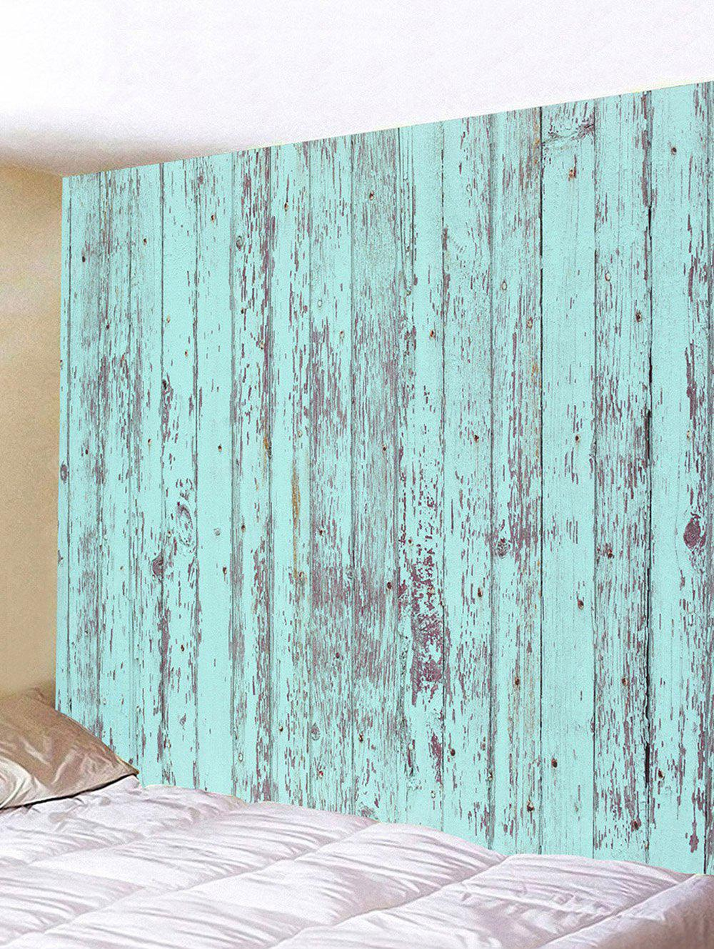Paint Peeling off Wooden Plank Print Wall Tapestry