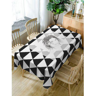 Patterned Fabric Waterproof Dining Table Cloth