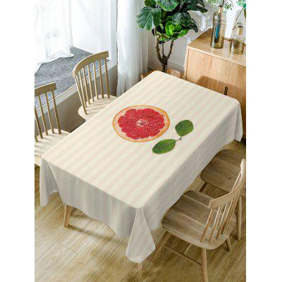 Orange Striped Pattern Fabric Waterproof Table Cloth