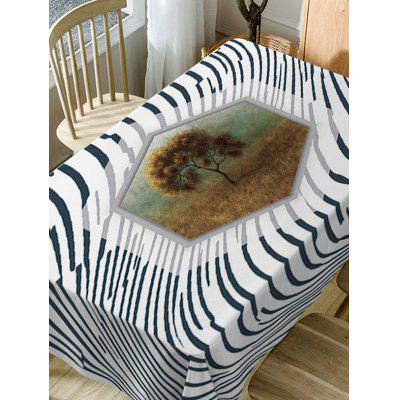 Tree and Striped Pattern Waterproof Table ClothTable Accessories<br>Tree and Striped Pattern Waterproof Table Cloth<br><br>Material: Polyester<br>Package Contents: 1 x Table Cloth<br>Pattern Type: Striped<br>Type: Table Cloth<br>Weight: 0.4600kg