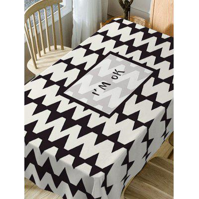 Letters and Zig Zag Print Fabric Waterproof Table ClothTable Accessories<br>Letters and Zig Zag Print Fabric Waterproof Table Cloth<br><br>Material: Polyester<br>Package Contents: 1 x Table Cloth<br>Pattern Type: Letter<br>Type: Table Cloth<br>Weight: 0.3750kg