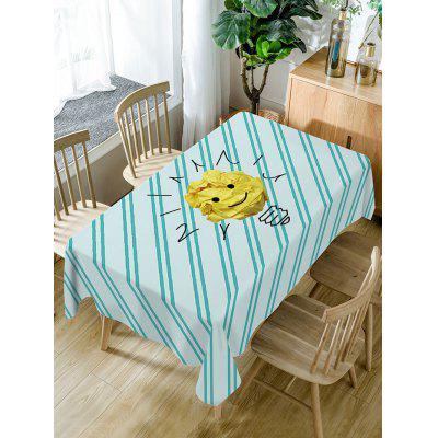 Paper Emoji Print Fabric Waterproof Table Cloth