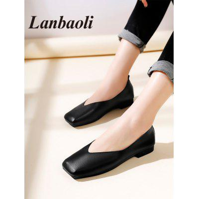 Lanbaoli Square Toe Casual FlatsWomens Flats<br>Lanbaoli Square Toe Casual Flats<br><br>Closure Type: Slip-On<br>Flat Type: Slip-On<br>Gender: For Women<br>Heel Height Range: Flat(0-0.5)<br>Occasion: Casual<br>Package Contents: 1 x Flats (pair)<br>Pattern Type: Solid<br>Season: Spring/Fall<br>Shoe Width: Medium(B/M)<br>Toe Shape: Square Toe<br>Toe Style: Closed Toe<br>Upper Material: PU<br>Weight: 0.9280kg