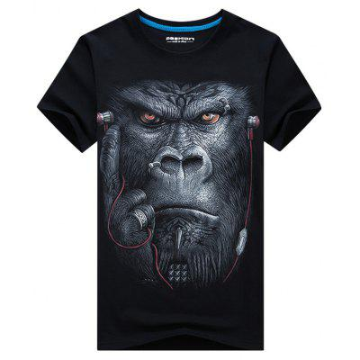 Gorilla with Earphone 3D Printed TeeMens Short Sleeve Tees<br>Gorilla with Earphone 3D Printed Tee<br><br>Collar: Crew Neck<br>Material: Cotton, Polyester<br>Package Contents: 1 x Tee<br>Pattern Type: 3D, Animal<br>Sleeve Length: Short<br>Style: Casual, Active<br>Weight: 0.2300kg