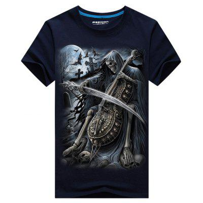 Cello Skeleton Print Cool TeeMens Short Sleeve Tees<br>Cello Skeleton Print Cool Tee<br><br>Collar: Crew Neck<br>Material: Cotton, Polyester<br>Package Contents: 1 x Tee<br>Pattern Type: 3D, Skeleton<br>Sleeve Length: Short<br>Style: Casual<br>Weight: 0.2300kg