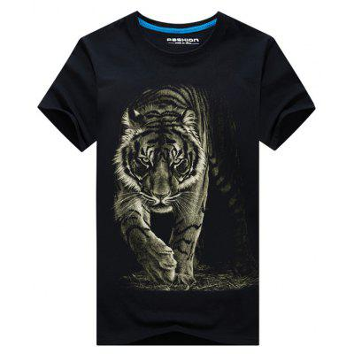 Tiger 3D Print Basic T-shirtMens Short Sleeve Tees<br>Tiger 3D Print Basic T-shirt<br><br>Collar: Crew Neck<br>Material: Cotton, Polyester<br>Package Contents: 1 x T-shirt<br>Pattern Type: 3D, Animal<br>Sleeve Length: Short<br>Style: Casual, Active<br>Weight: 0.2300kg