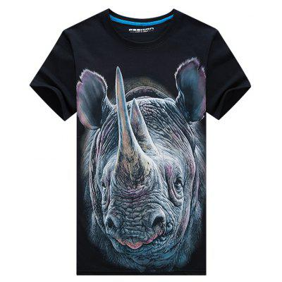 Rhinoceros Face 3D Print T-shirtMens Short Sleeve Tees<br>Rhinoceros Face 3D Print T-shirt<br><br>Collar: Crew Neck<br>Material: Cotton, Polyester<br>Package Contents: 1 x T-shirt<br>Pattern Type: Animal, 3D<br>Sleeve Length: Short<br>Style: Fashion, Casual, Active<br>Weight: 0.2300kg