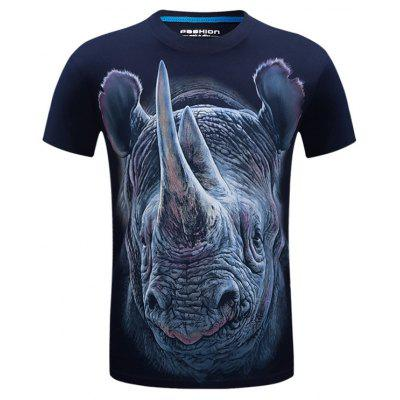 Rhinoceros Face 3D Print T-shirt