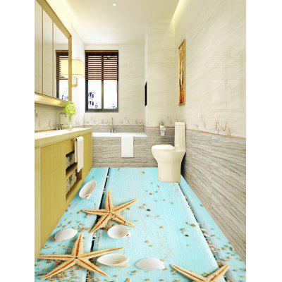 Starfish Shell Wood Board Print Floor StickersWall Stickers<br>Starfish Shell Wood Board Print Floor Stickers<br><br>Feature: Removable<br>Functions: Floor Sticker<br>Material: PVC<br>Package Contents: 1 x Floor Stickers (Set)<br>Pattern Type: Wood Grain<br>Wall Sticker Type: Plane Wall Stickers<br>Weight: 1.3000kg
