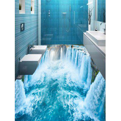 3D Waterfall Print PVC Removable Floor Wall Stickers