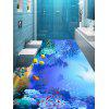 Fish and Reef Print Floor Wall Stickers - BLUE