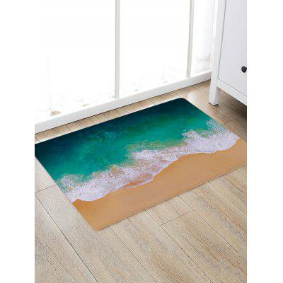 Sandbeach Sea Wave Pattern Non-slip Floor Area Rug
