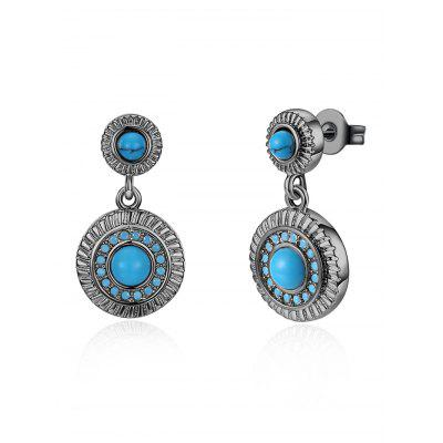 Bohemian Artificial Rammel Round Drop Earrings