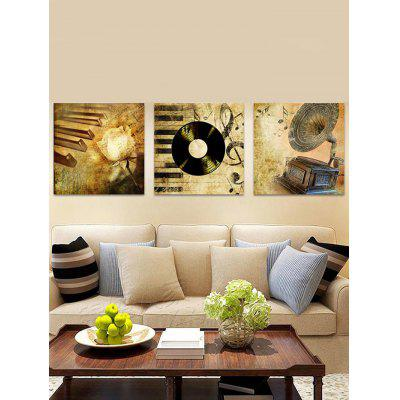 Retro Music Record Printed Unframed Canvas Paintings