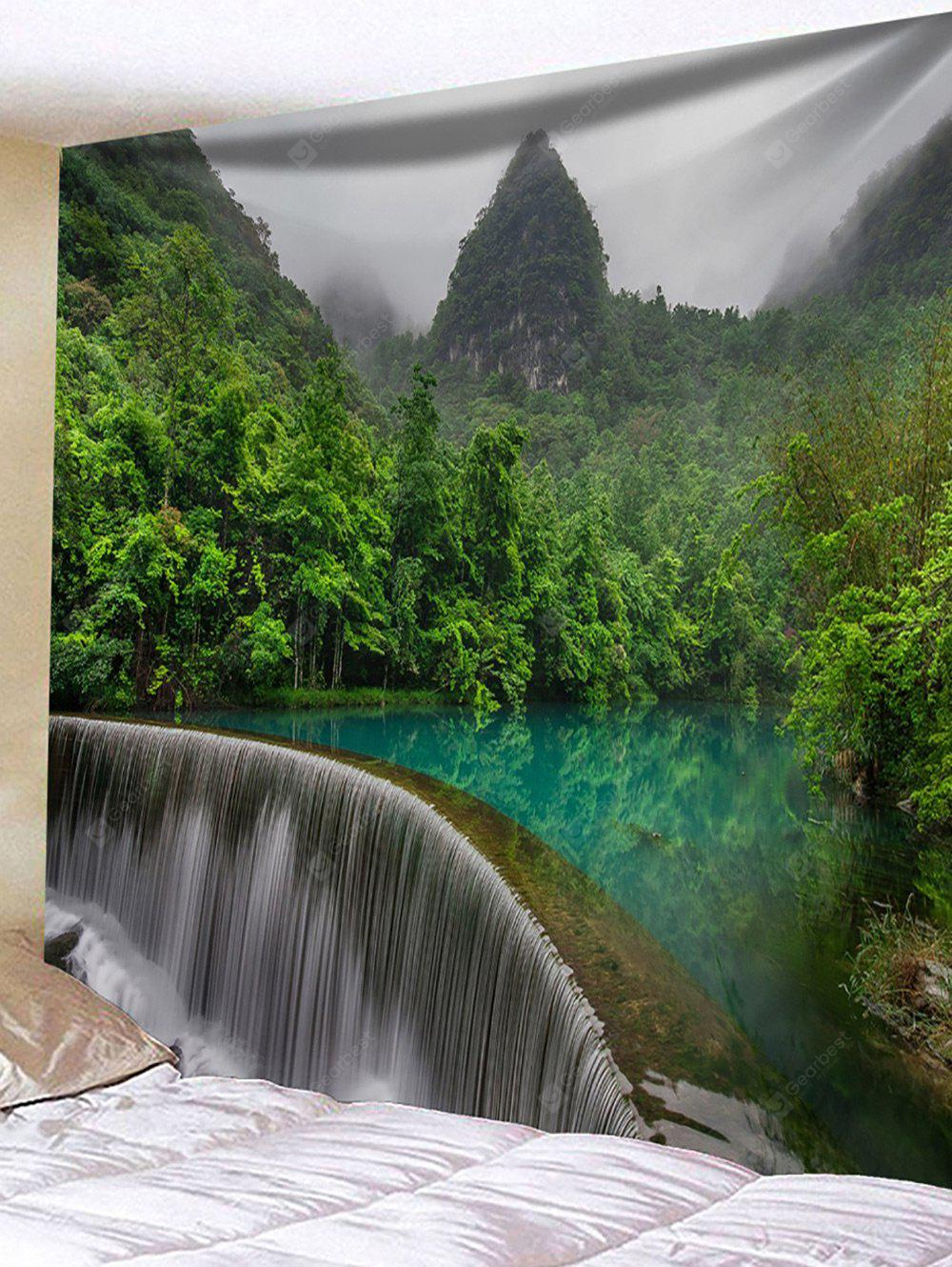 River Waterfall Print Tapestry Wall Hanging Decor
