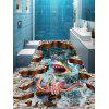 3D Shark Octopus Print Antislip Floor Stickers - COLORMIX