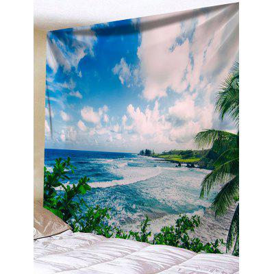 Sea Sky Print Tapestry Wall Hanging Decor