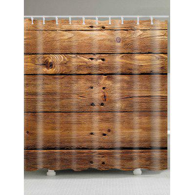 Wood Texture Pattern Waterproof Shower Curtain