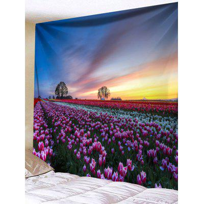 Sea of Flowers Print Tapestry Wall Hanging Decor