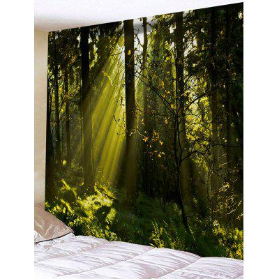 Sunlight Forest Print Tapestry Wall Hanging Decor