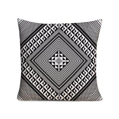 Layered Rhombus Printed Decorative Pillowcase