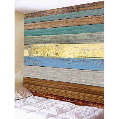 Colorful Wood Grain Board Printed Wall Tapestry