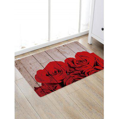 Rose Board Pattern Non-slip Floor Area Rug