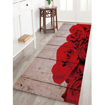 Buy Rose Board Pattern Non-slip Floor Area Rug COLORMIX for $14.27 in GearBest store