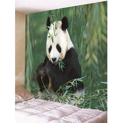 Panda Eating Bamboo Print Tapestry