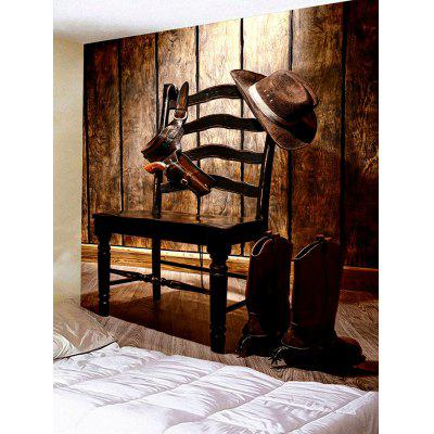 Chair Hanging Cowboy Accessories Print Tapestry