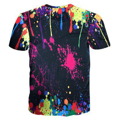 Crew Neck Paint Splatter TeeMens Short Sleeve Tees<br>Crew Neck Paint Splatter Tee<br><br>Collar: Crew Neck<br>Material: Polyester, Spandex<br>Package Contents: 1 x Tee<br>Pattern Type: Paint<br>Sleeve Length: Short<br>Style: Fashion, Novelty<br>Weight: 0.2300kg