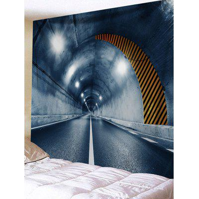 Tunnel Entrance Printed Wall Tapestry