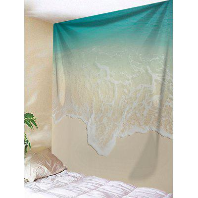 Beach Ocean Waves Print Wall Hanging Tapestry