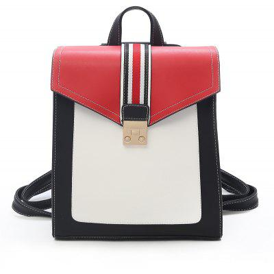 Striped Casual School Backpack