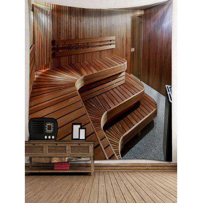 Wooden Stairs Printed Wall Hanging Tapestry